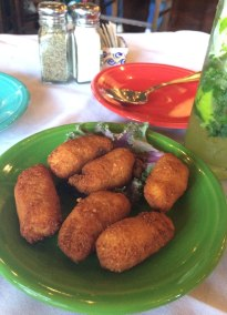 Croquettes are a typical cuban appetizer of ground ham or turkey, deep-fried and delicious!