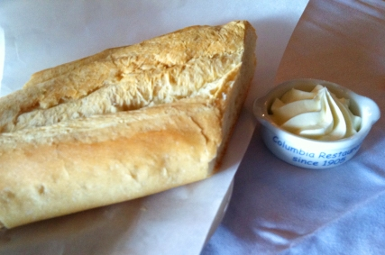 Each diner gets their own fresh, hot, cuban bread from La Segunda Central Bakery and soft, creamy butter.