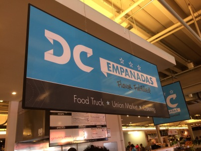 DC Empanadas sign Union Market