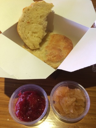 Mason Dixie Biscuit with fruit toppings