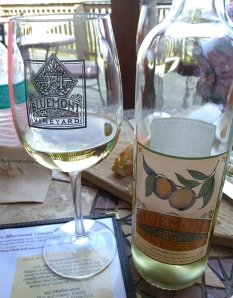 Bluemont Vineyard Peach wine