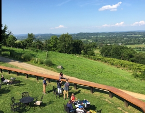 Bluemont Vineyard outdoor seating
