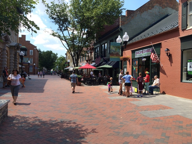 Winchester's Old Town pedistrian mall