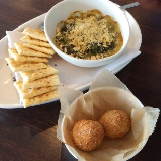 Crab and Artichoke Dip and Chicken Pot Pie Fritters
