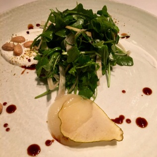 Arugula salad with pears
