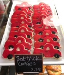 Love these cute Red Truck iced cookies.
