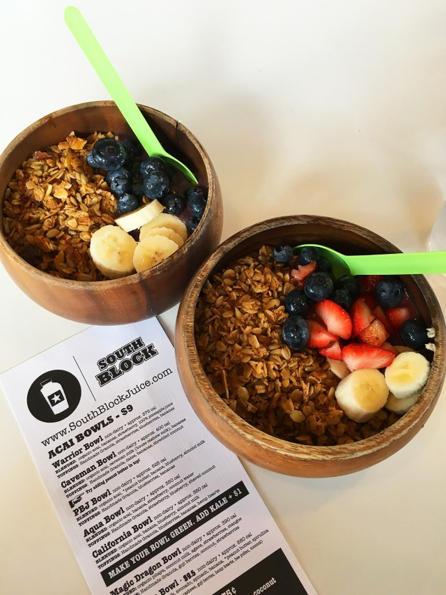 Acai Berry Bowls, South Block